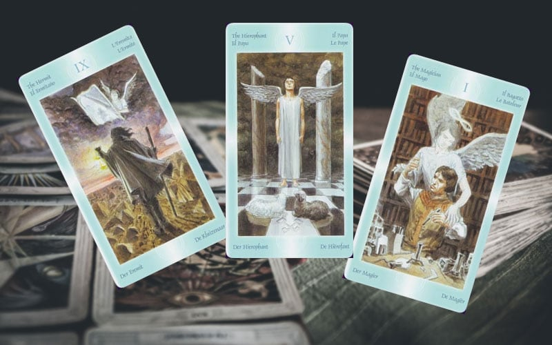 Cartas do Tarot Angelical e das Fadas