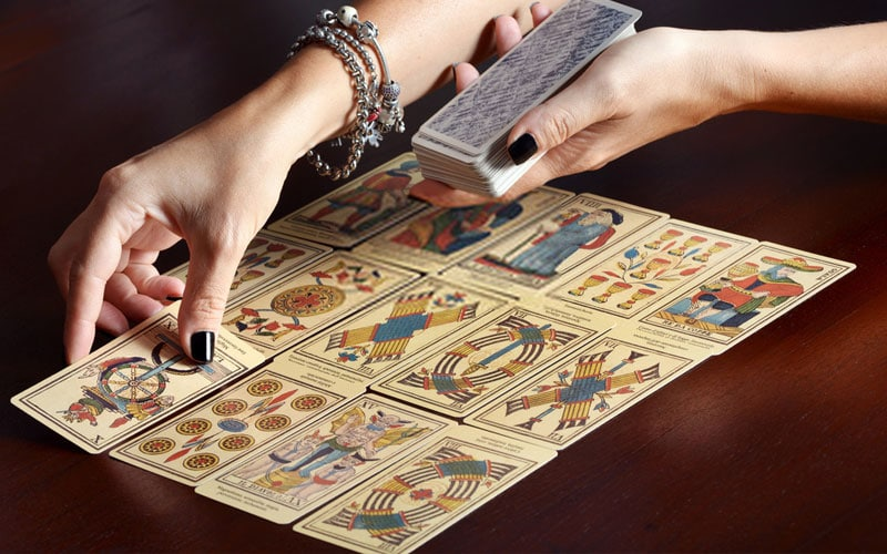 Tirada de cartas do tarot